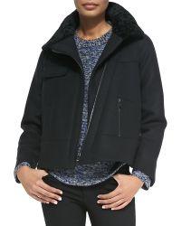 Proenza Schouler Shearlingcollar Zip Jacket - Lyst