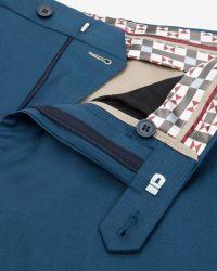 Ted Baker Debonair Plain Wool Suit - Blue