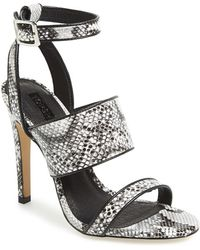 Topshop Women'S 'Rita' Croc Embossed Sandal - Lyst