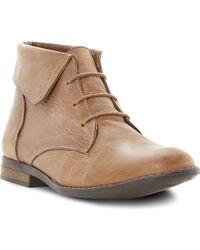 Steve Madden Stingrei Flat Boots Tanleather - Lyst