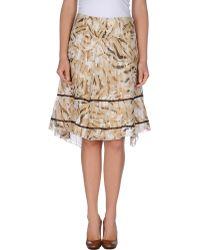 Alysi Knee Length Skirt - Lyst