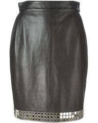Moschino Mirror Bead Embellished Skirt - Lyst