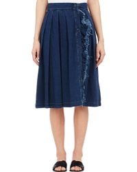 Boy by Band of Outsiders - Denim Pleated Skirt-Blue Size 1 (2 Us) - Lyst