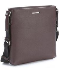 Ermenegildo Zegna - Bordeaux Leather Messenger Bag - Lyst