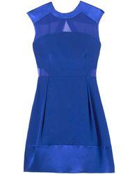 Rebecca Taylor Silk Chiffon Combo Dress - Lyst