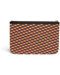 Pierre Hardy 'Canvas Lily' Cube Print Canvas Pouch - Lyst