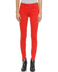 Mother The High Waisted Looker Jeans  - Lyst