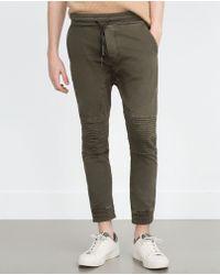 Zara | Soft Biker Trousers | Lyst