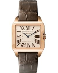 Cartier Santos Dumont 18Ct White-Gold Small Watch - For Men pink - Lyst