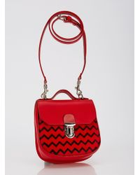 Jam Love London - Charlotte Saddle Bag In Ponyskin Red - Sold Out - Lyst