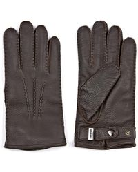 Mulberry Deer Leather Gloves - Lyst