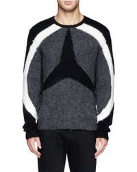 Neil Barrett Arc and Three-point Star Front Sweater - Lyst