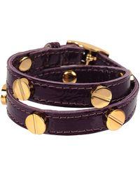 CC SKYE | The Signature Screw Bracelet Double Wrap In Gold | Lyst