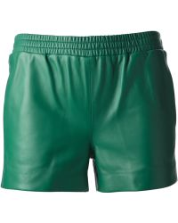 JOSEPH Leather Shorts - Green