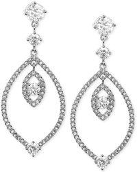 Judith Jack Sterling Silver Crystal Orbital Drop Earrings - Lyst