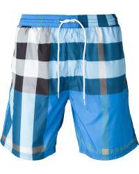 Burberry Brit - Checked Swim Shorts - Lyst
