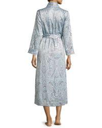 Oscar de la Renta Paisley-print Satin Long Robe - Pink