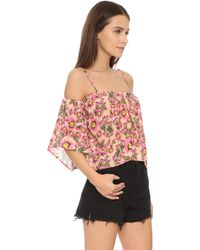 Tori Praver Swimwear - Flores Top Cactus Flower Naked - Lyst