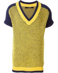 Sibling - Mesh Short Sleeve Sweater - Lyst