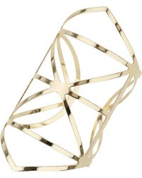 Topshop Womens Outline Detail Cuff - Gold - Lyst