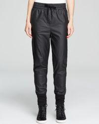 DKNY Mixed Media Drawstring Sweatpants - Lyst