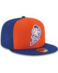 KTZ New York Mets Diamond Era 59fifty Cap - Orange