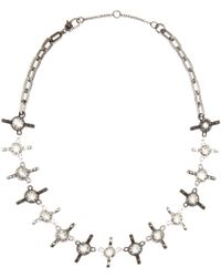 Marc By Marc Jacobs - Wingnut Crystal-embellished Necklace - Lyst
