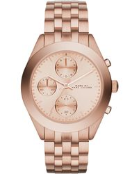 Marc By Marc Jacobs Peeker Rose Goldtone Stainless Steel Chronograph Bracelet Watch - Lyst