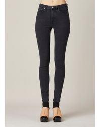 Acne   Used Black Pin Jeans   Lyst