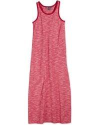Vince Sleeveless Slub-Knit Maxi Dress - Lyst