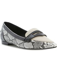 Dune Lyndon Pointed-toe Leather Loafers - Lyst