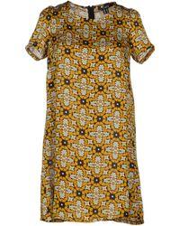 Cutie Yellow Short Dress - Lyst