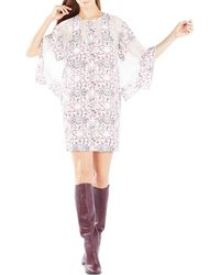 BCBGMAXAZRIA Susannah Print-blocked Kaftan Dress - Pink