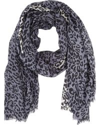 Barneys New York Multicolor Leopardprint Scarf - Lyst