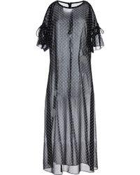 Thakoon Bare Shoulder T-shirt Dress in Polka Dot with Fringe - Lyst