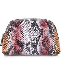 Topshop Snake-Effect Make-Up Bag pink - Lyst