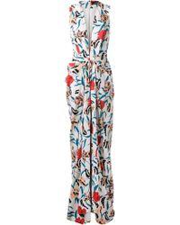 Thakoon Floral Print Draped Dress - Lyst