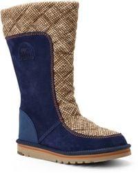 Sorel Navy & Khaki Campus Tall Boots blue - Lyst