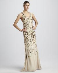 Aidan By Aidan Mattox Sleeveless Beaded Gown - Lyst