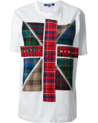 Junya Watanabe Tartan Union Jack Tshirt - Lyst