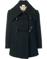 Chloé Toggle Fastening Coat - Black