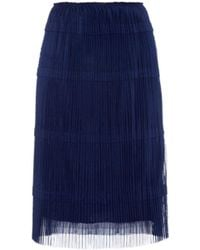 Burberry Prorsum - Pleated Tulle A-line Skirt - Lyst