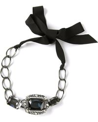 Lanvin Chain and Crystal Necklace - Lyst