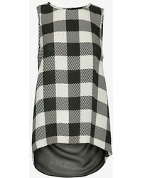 Rag & Bone Harper Gingham Print Sleeveless Silk Blouse - Lyst