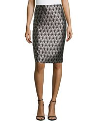 Lafayette 148 New York Modern Slim Diamond Skirt - Lyst