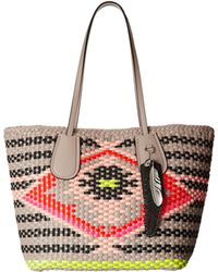 Coach Woven Taxi Tote gray - Lyst