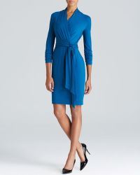 Adrianna Papell Faux Wrap Dress - Lyst