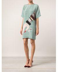 Holly Fulton T-Shirt Dress - Green