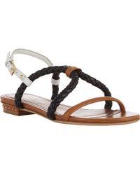 Maiyet Braided Slingback Sandals - Black