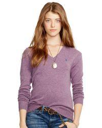 Polo Ralph Lauren Cashmere Vneck Sweater - Lyst